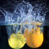Lemon and water Royalty Free Stock Photography