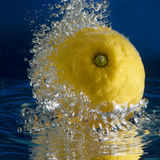 Lemon in the water Stock Photos