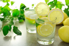 Lemon water Stock Photos