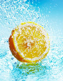 Lemon in water Royalty Free Stock Photo