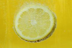 Lemon in water Stock Images