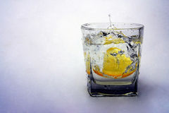 Lemon in water Royalty Free Stock Photography