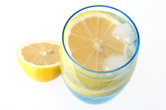 Lemon in water. Royalty Free Stock Images
