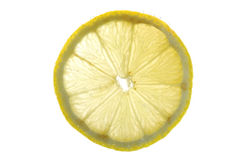 Lemon in water close up Royalty Free Stock Photos