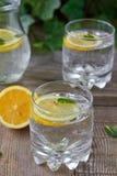Lemon water Stock Photo