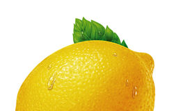 Lemon with water drops Royalty Free Stock Photos