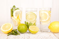 Lemon water Royalty Free Stock Photography