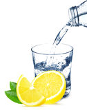 Lemon and water Royalty Free Stock Photo
