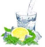 Lemon and water Stock Image