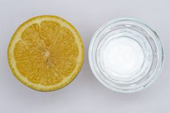 Lemon and water Royalty Free Stock Image