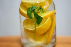 Lemon water Royalty Free Stock Photos