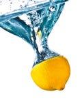 Lemon In Water Splash Stock Photography