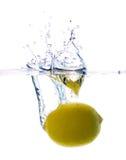 Lemon water splash Royalty Free Stock Images