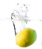 Lemon water splash Stock Photo