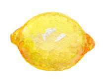 Lemon watercolor Royalty Free Stock Photography
