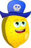 Lemon wearing pirate hat Stock Image