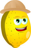 Lemon wearing scout or explorer hat Stock Images