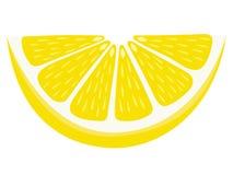 Lemon Wedge Slice Isolated on White Background. Lemon slice wedge vector illustration isolated on a white background Stock Image