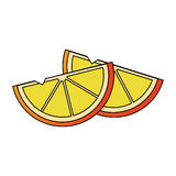 Lemon wedges icon image Stock Photo