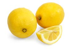 Lemon on white Royalty Free Stock Images