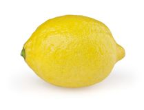 Lemon on white. Background with clipping path stock image