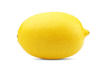 Lemon on white. Citrus. ripe yellow lemon on white Royalty Free Stock Photos