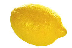 Lemon on White Royalty Free Stock Photos