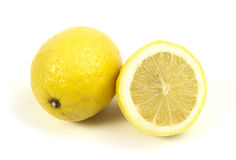 Lemon on white background Royalty Free Stock Photo