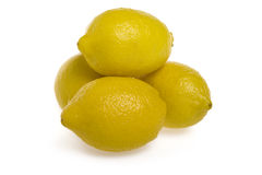 Lemon on a white background Stock Images