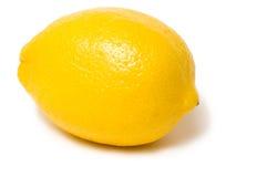 Lemon on white background. Fresh yellow lemon isolated on white background royalty free stock image