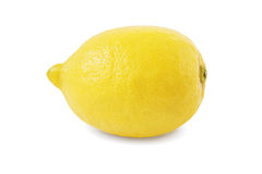 Lemon on white background with clipping path. Royalty Free Stock Photos
