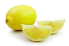 Lemon on white background. Fresh lemon on white background Stock Images