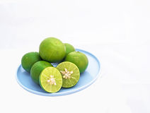 Lemon. On White background in thailand Royalty Free Stock Photo