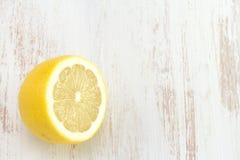 Lemon on white background Royalty Free Stock Photography