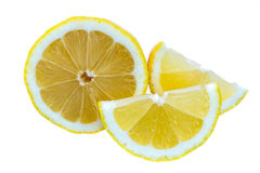 The lemon on white isolate background. Royalty Free Stock Image