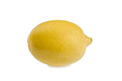 Lemon on white Stock Photos