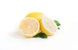 Lemon on the white Stock Image