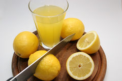 Free Lemon With Batten And Cutter Royalty Free Stock Photography - 689657