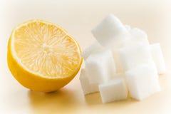 Lemon With Sugar Royalty Free Stock Photo
