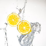 Lemon With Water Royalty Free Stock Photography