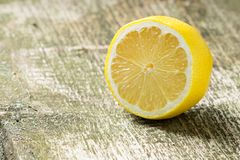 Lemon at  wood background Royalty Free Stock Photography