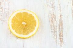 Lemon on wooden background Royalty Free Stock Image
