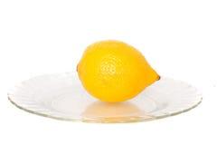 Lemon. Yellow lemon on a white background Stock Photos
