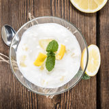 Lemon Yoghurt Stock Photo