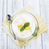 Lemon Yoghurt Royalty Free Stock Photo