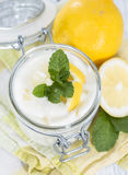 Lemon Yoghurt Royalty Free Stock Images