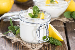Lemon Yoghurt Royalty Free Stock Image