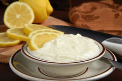 Lemon yogurt Stock Photo