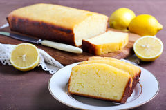 Lemon yogurt loaf cake, Royalty Free Stock Images