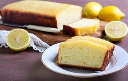 Lemon yogurt loaf cake Royalty Free Stock Image